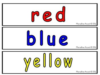 COLOR PRINTABLES: COLOR FLASHCARDS: COLORS WORD WALL
