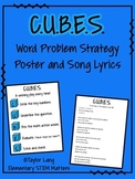 FREEBIE - C.U.B.E.S. Word Problem Strategy Poster and Song Lyrics