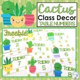 FREEBIE Cactus Classroom Decor Succulent Classroom Decor T
