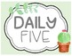 FREEBIE Cactus Daily Five Signs