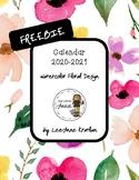 FREEBIE Calendar 2018-2019:  Watercolor Floral Edition