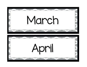 *FREEBIE* Calendar Headers (gray & large)
