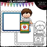 FREEBIE Calendar Message Board Kid Clip Art - Father's Day