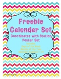 FREEBIE Calendar Set (Months of the Year, Days of the Week and Numbers 1-31