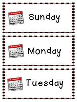 FREEBIE - Calendar Word Wall (Days of the Week/Months of the Year)