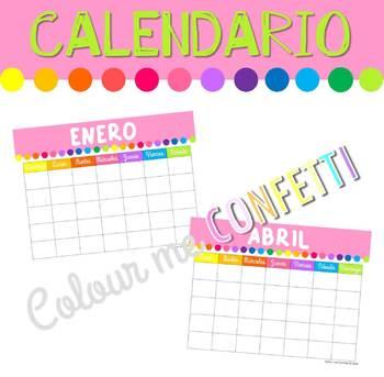 FREEBIE Calendario - Colour me Confetti