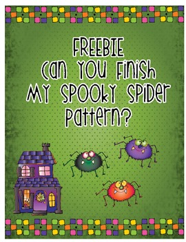 FREEBIE Can You Finish My Spooky Spider Pattern?