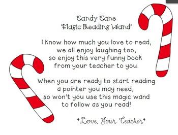 FREEBIE Candy Cane Magic Reading Wand Poem by Nakita ...