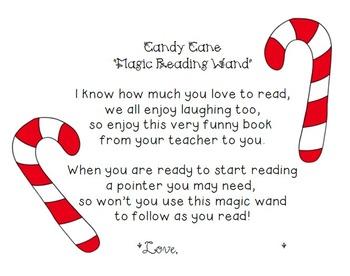 FREEBIE Candy Cane Magic Reading Wand Poem