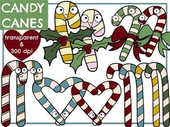 [FREEBIE!] Candy Canes - Christmas Digital Clip Art