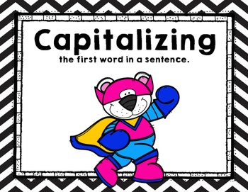 FREEBIE - Capitalizing the first letter in a sentence