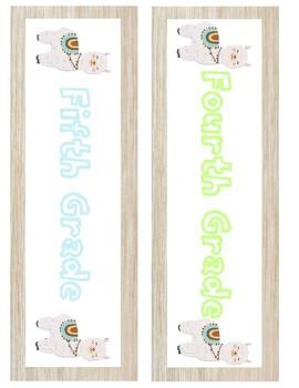 FREEBIE Cart/Drawer Labels - Pastel Rainbow & Llamas