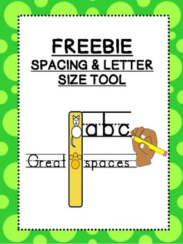 FREEBIE: Cat letter size checker / space checker for STRUGGLING HANDWRITERS