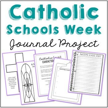 FREEBIE! Catholic Schools Week Mini Notebook Journal Project