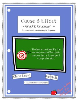 FREEBIE: Cause & Effect Graphic Organizer