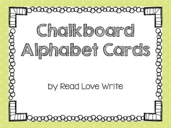 FREEBIE: Chalkboard Alphabet Cards, Word Wall