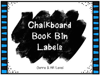 FREEBIE! Chalkboard Book Bin Labels: Genre and AR Level