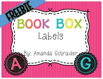 FREEBIE- Chalkboard Book Box Labels