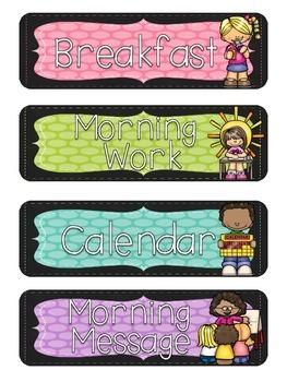 *FREEBIE!* Chalkboard and Polka Dot Brights Schedule