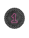 FREEBIE Chalkboard/Quatrefoil Center Numbers- Great Classr