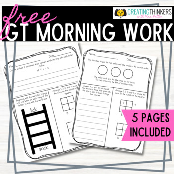 FREEBIE Challenge Daily Morning Work Week 1 2nd Grade