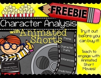 FREEBIE - Character Analysis with Animated Shorts