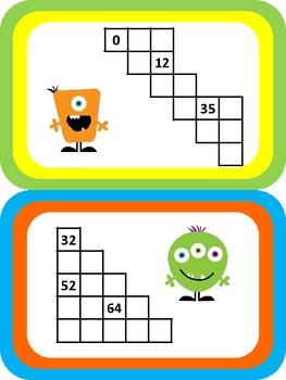 FREEBIE!! Chart Chunks - Common Core Math Work Station/Center 99 Chart
