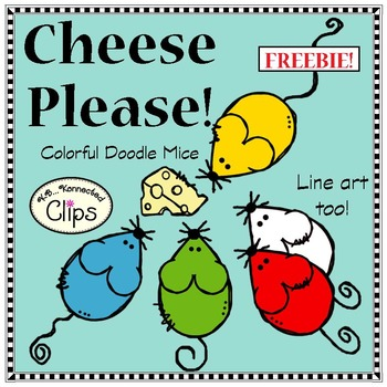 FREEBIE - Cheese Please! Colorful Doodle Mice