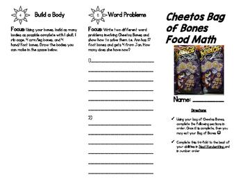 FREEBIE Cheetos Bag of Bones Math!