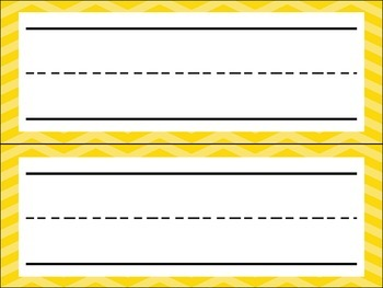 {FREEBIE} Cheveron Two Tone Name Plates