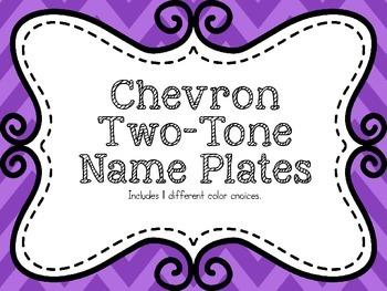 {FREEBIE} Cheveron Two Tone Name Plates