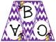 Chevron Bunting - Entire Alphabet in 4 Colors
