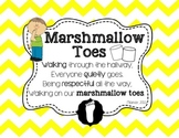 {FREEBIE} Chevron Themed Marshmallow Toes Hallway Expectation Poster