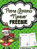 #JollyGoodFreebie FREEBIE Christmas Acrostic Poem {Spanish}