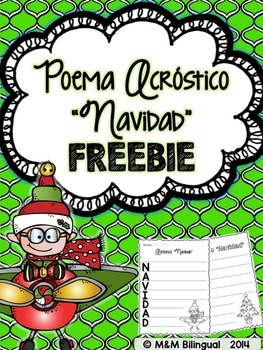 jollygoodfreebie freebie christmas acrostic poem spanish
