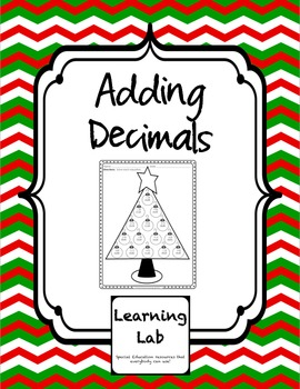 FREEBIE Christmas Adding Decimals