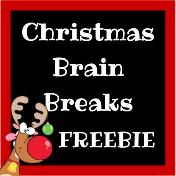 FREEBIE: Christmas Brain Breaks and Challenges