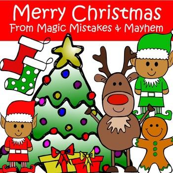 FREEBIE!!! Christmas Clip Art- Merry Christmas Mixed Pack