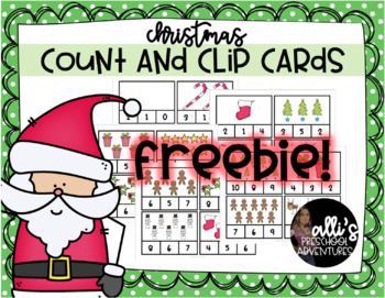 FREEBIE! Christmas Clip and Count Card