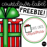 FREEBIE Christmas Countdown Label