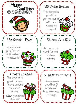 FREEBIE Christmas Coupons (editable)
