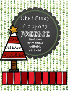 FREEBIE Christmas Coupons (editable)
