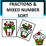 **FREEBIE** Cupcake Improper Fractions & Mixed Numbers Sort
