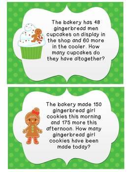 {FREEBIE} Christmas Goodies: Word Problem Task Cards
