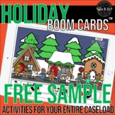 FREEBIE Christmas/Holiday Boom Cards™ for Speech Therapy w