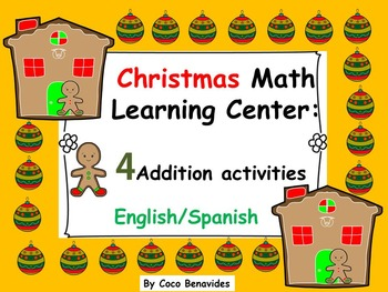 FREEBIE Christmas Math practice. Addition Centers.