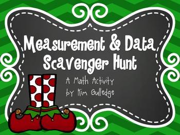 Christmas Measurement and Data Scavenger Hunt