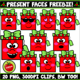 FREEBIE!!! Christmas Present Faces And Emotions Clipart