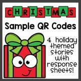 Christmas QR Code Listening Center Freebie
