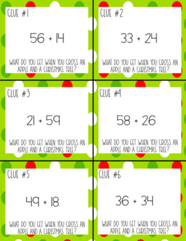 FREEBIE Christmas Riddles through Addition with Regrouping
